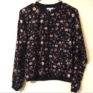 Maurices Floral Bomber Jacket